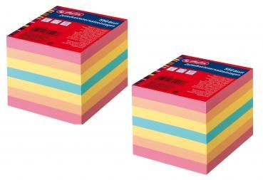 """Herlitz Zettelbox 9x9x9cm incl /""""Pure Glam/"""" Notizblätter 700 Bl"""