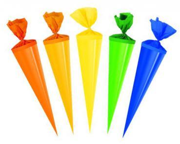 rund Zuckertüte 5 verschiedene Motive 5x Schultüte Länge 25cm