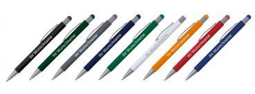 Druckbleistift Schreibset mit Gravur rot Touchpen Kugelschreiber Farbe