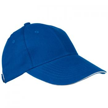Baumwoll-Basecap 6 Panel heavy-brushed Cotton / Farbe: blau