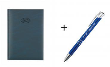 Kalender 2019 Agenda A6 Touchpen Kugelschreiber schwarz mit Innentasche
