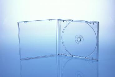 CD/DVD Jewelcase Hüllen für 1 Disc / glasklar/transparent