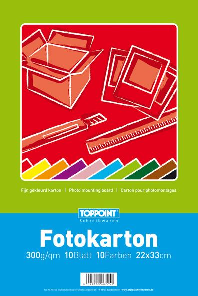 10x Fotokartonblock 300g 100 Blatt Fotokarton 22x33cm