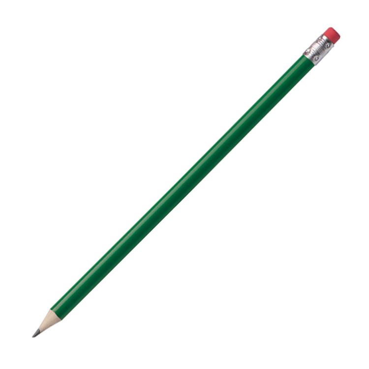 25 Bleistifte mit Radierer Farbe mit Gravur lackiert schwarz HB