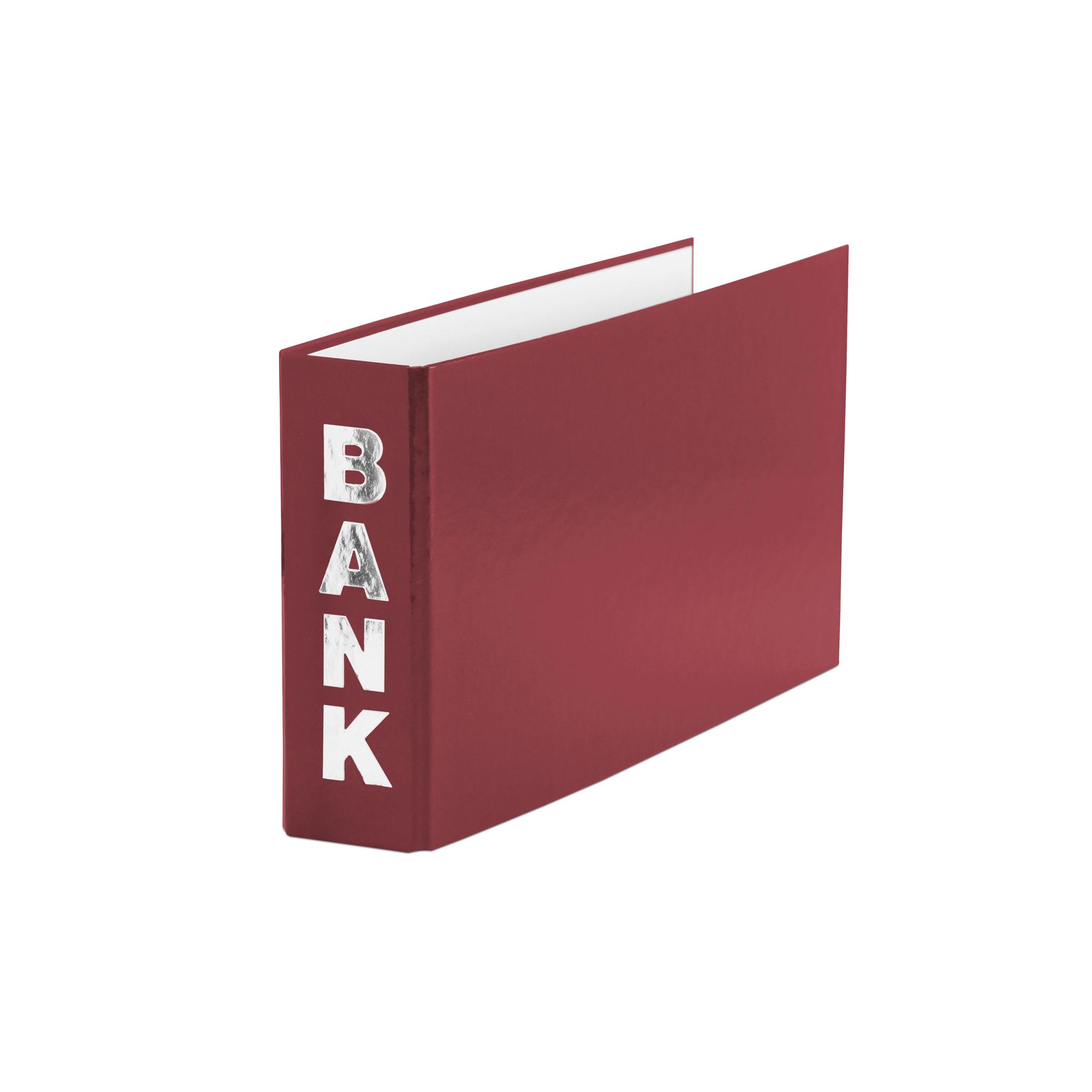rot für Kontoauszüge 140x250mm 3 Bankordner Farbe