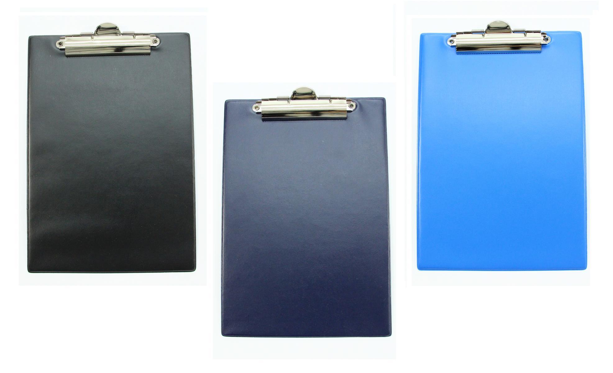 aus PVC Farbe dunkelblau Klemmbrett DIN A4