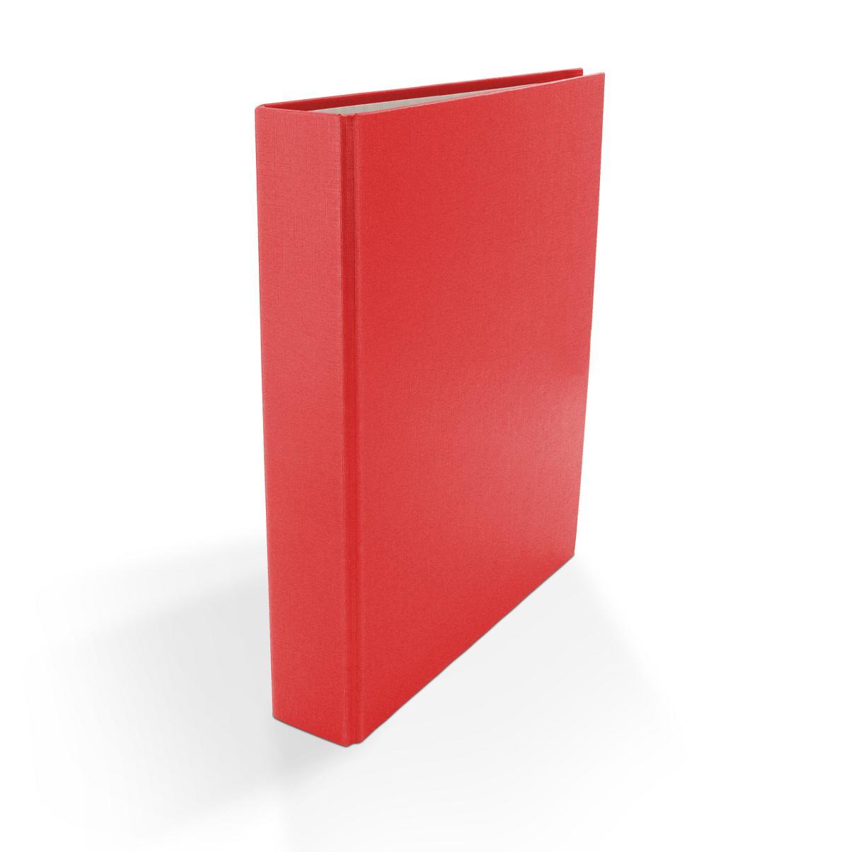 je 1x weiß Farbe 3x Ringbuch DIN A5 2-Ring Ordner rot und schwarz
