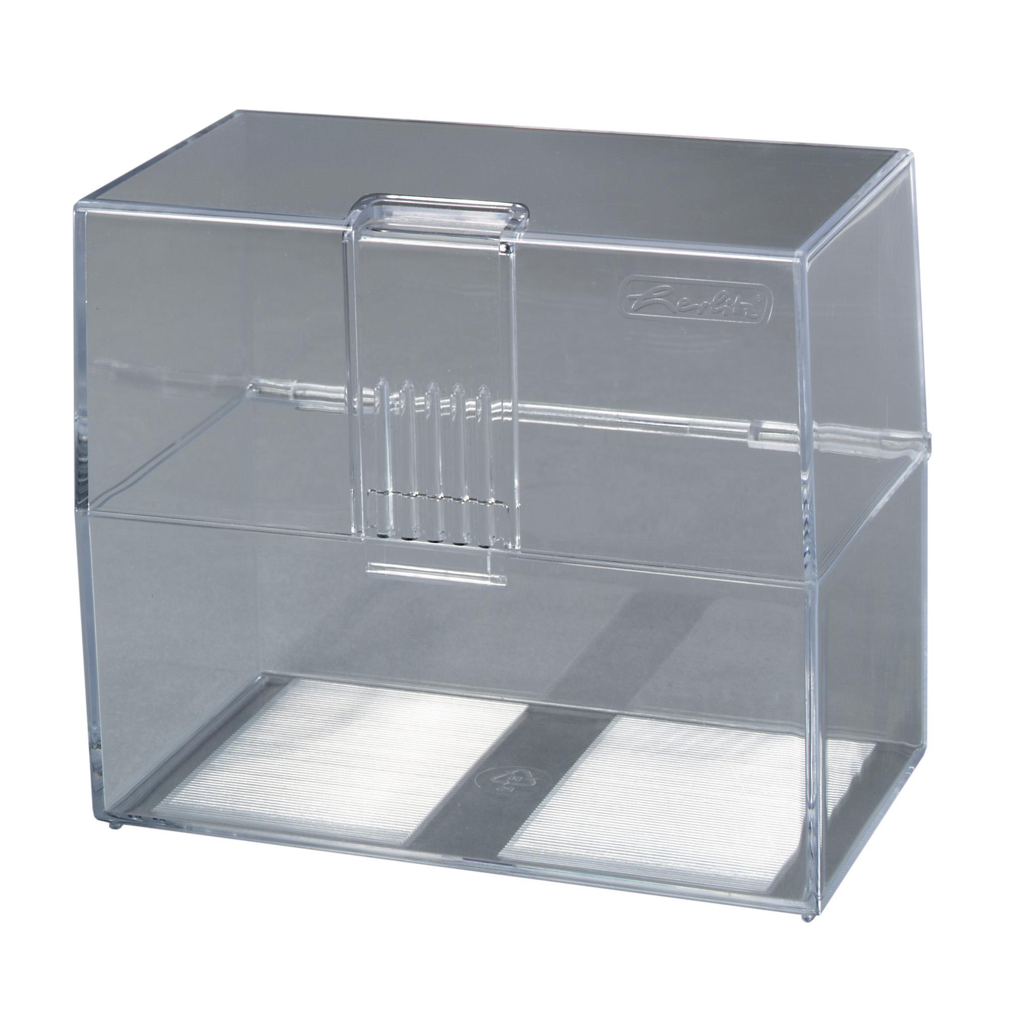 Herlitz Karteikasten transparent Lernbox DIN A7