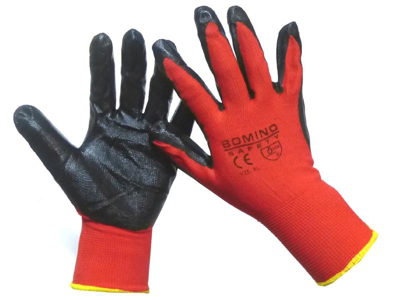 Sonderteil populärer Stil heißes Produkt Arbeitshandschuhe / Größe: 10 / Farbe: schwarz/rot/gelb