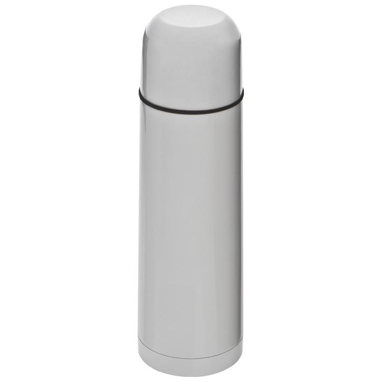 Farbe weiß Thermosflasche 0,5l Edelstahl Isolierkanne mit Gravur