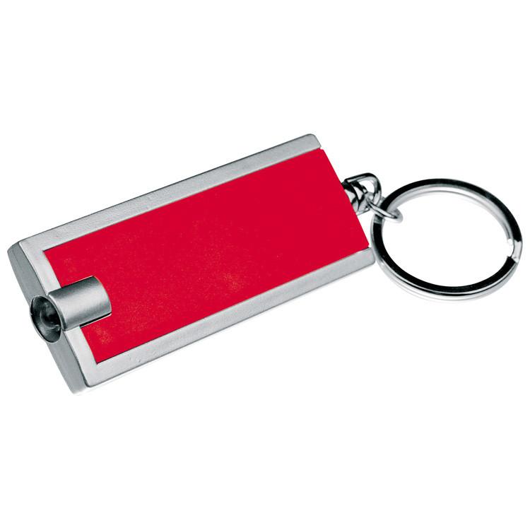 livepac-office - Schlüsselanhänger mit LED Taschenlampe / Farbe: rot