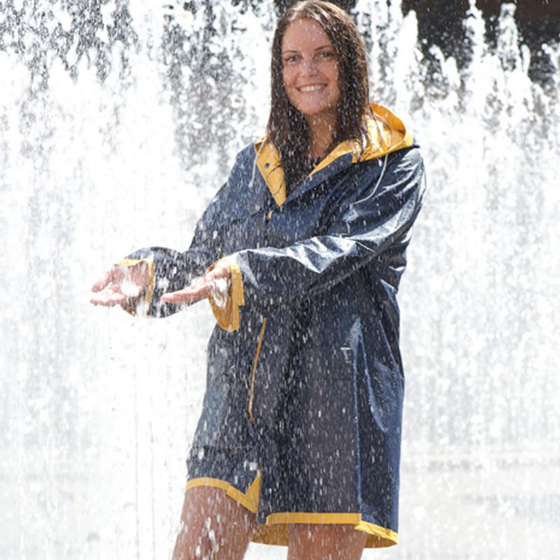 blau-gelb Wendbare Regenjacke in XL Farbe