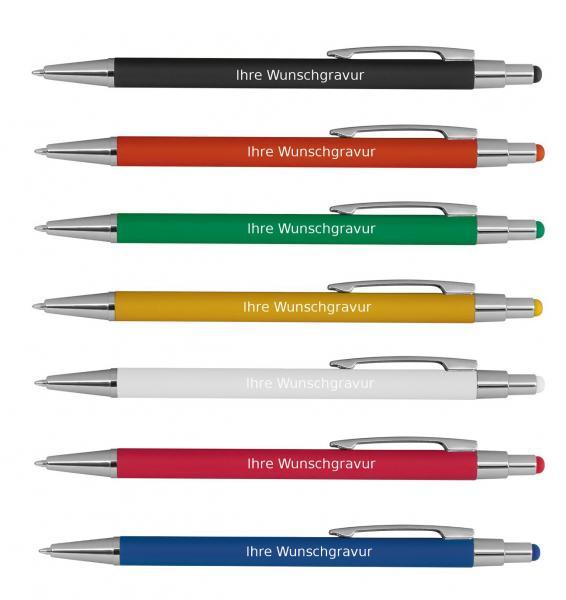 aus Metall Farbe 10 schlanke Kugelschreiber blau