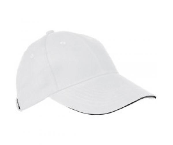 Baumwoll-Basecap 6 Panel heavy-brushed Cotton / Farbe: weiss